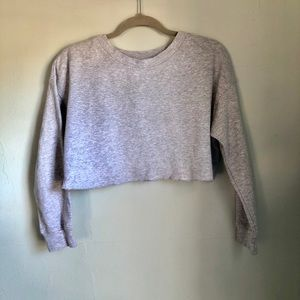 Zara gray crop top size medium